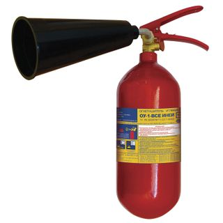 FROST / Carbon dioxide fire extinguisher OU-1, VSE (liquid and gaseous substances, electrical installations)