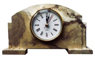 Arbet Marble / Mantel table clock Classic from marble Arbet ™ Royal cream (beige)