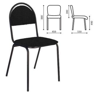 PC00M visitor chair, black frame, black fabric