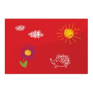 Board magnetic marker glass (40x60 cm), 3 magnets, RED, BRAUBERG