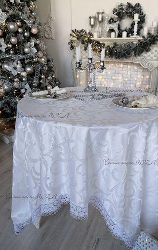 Tablecloth with lace, Belvedere