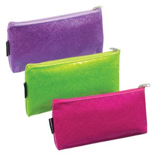 Pencil case-cosmetic bag BRAUBERG, PVC, assorted 3 colors, Glamour 20x10 cm