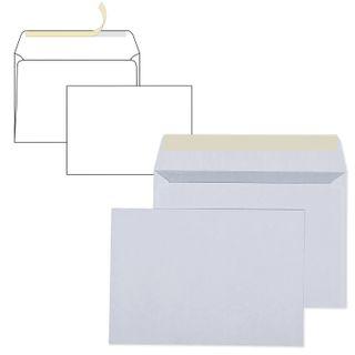 Envelopes C6 (114x162 mm), tear-off strip, white, SET of 1000 PCs, inner sealing