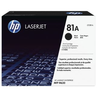 HP (CF281A) LaserJet M604n / M604dn / M605 / M606 / M630, # 81A, original, yield 10,500 pages