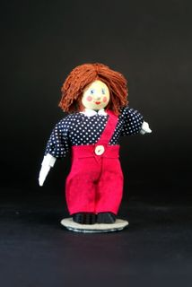 Doll-poteshka gift. Carlson. Fairy tale character. Wood, textiles.