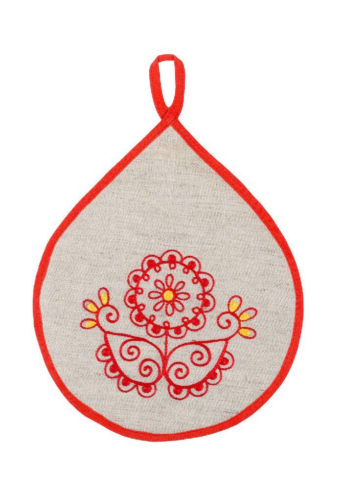 Potholder Flower red