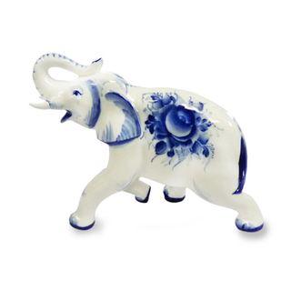 Sculpture Elephant No. 7, 1st grade, Gzhel Porcelain factory