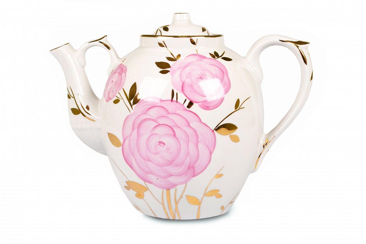 Dulevo porcelain / Teapot 4500 ml Russian Spring