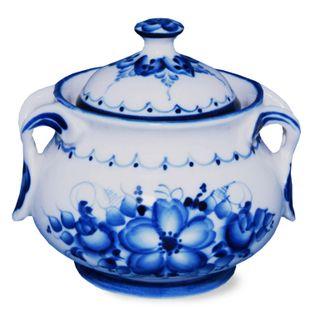 Pot for honey Bee 2nd grade, Gzhel Porcelain factory