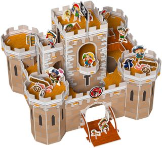 3D puzzle with stickers: Fort treasure