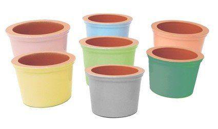Vyatka ceramics / Set of 6 muffin tins, 0.2 l. (mix)