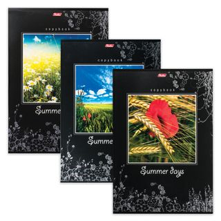Notebook A4, 96 sheets, HATBER, staple, cage, selective varnish,