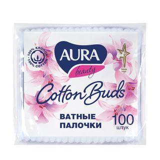 AURA / Cotton swabs SET 100 pcs., Plastic bag