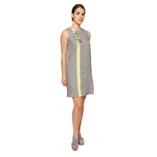 "Dress women ""Wilsonia"" gray with silk embroidery"
