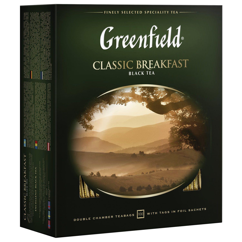 "GREENFIELD / Tea ""Classic Breakfast"" black, 100 sachets in envelopes 2 g each"
