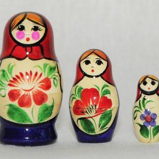 Matryoshka souvenir painted, 3 items
