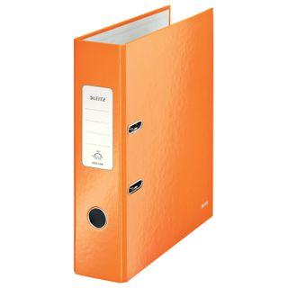 Folder-Registrar LEITZ 'WOW', the mechanism 180°, laminated, 80 mm, orange