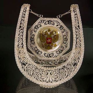 "Kazakov Filigree / Souvenir ""Horseshoe"" silvering"