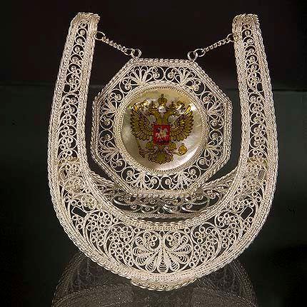Souvenir Horseshoe silvering, Kazakovskaya Filigree