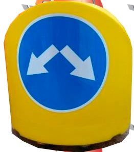 Road buffers and signal cones made of environmentally safe plastic PVC