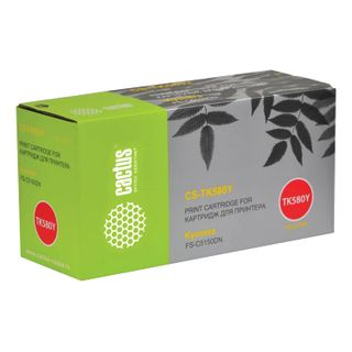 Toner cartridge CACTUS (CS-TK580Y) for KYOCERA FS-C5150DN / P6021CDN, yellow, yield 2800 pages