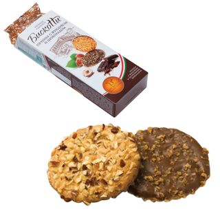 BISCOTTI / Butter cookies with hazelnuts, chocolate and waffle crumbs, 100 g (Russia)