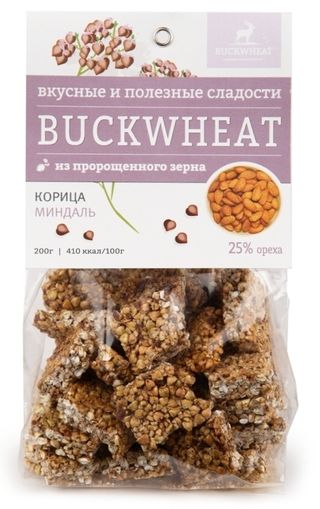 Buckwheat / Confectionery with almonds and cinnamon, 200g, 8 pcs.