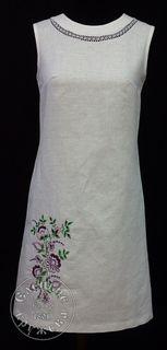 Dress womens linen embroidered С11768