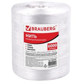 BRAUBERG / Polypropylene thread, length 6000 m, width 6 mm, linear density 1000 tex