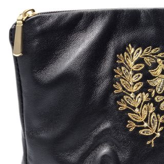 "Leather cosmetic bag ""Camellia"""