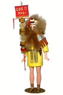 Doll gift. Signifer Praetorian cohort. 4-6 centuries BC. The Roman Empire.