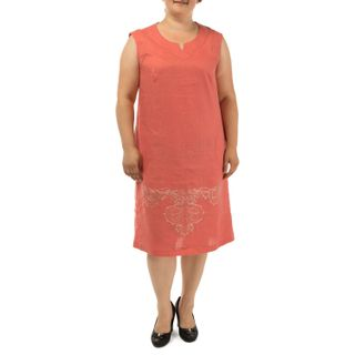 Dress for women Donna red with silk embroidery