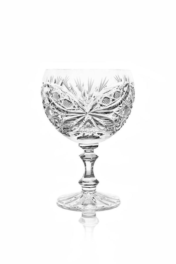 A set of crystal glasses for Machaon cognac colorless 6 pieces