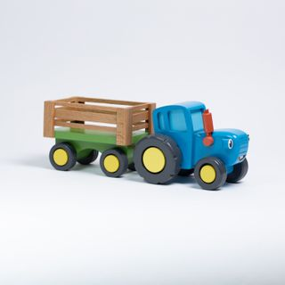 """Toy """"Blue tractor"""" big trailer"""