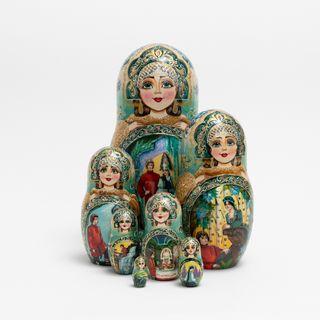 Matryoshka author's subject 7, Vyatskiy souvenir