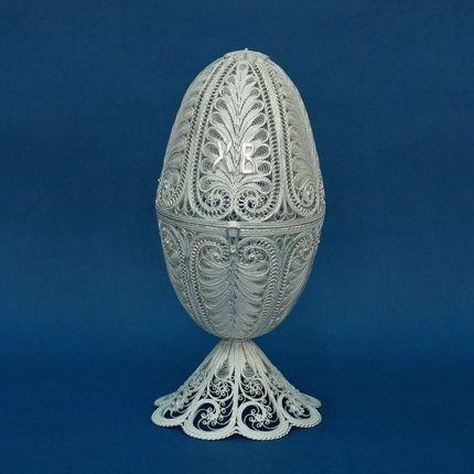 "Kazakovskaya Filigree / Souvenir ""Egg"" silvering"