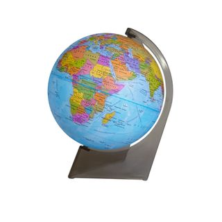 Political globe with a diameter of 150 mm, on a triangular stand