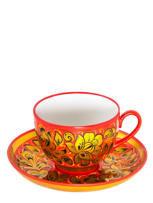 Tea set 'Revival' with Khokhloma painting