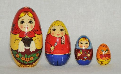 Vyatka souvenir / Painted egg 'Hostess'