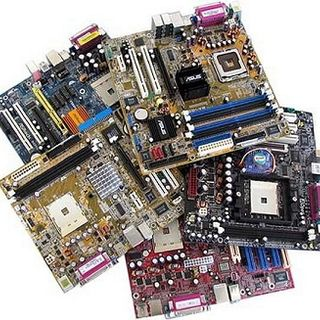 Computer hardware and components: motherboard, processor, video cards