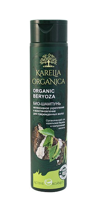 ORGANIC BERYOZA BIO-SHAMPOO Intensive strengthening and restoration for damaged hair Other bio-shampoos in the series: ORGANIC moroshka Energy and strength for all hair types; ORGANIC OBLEPIKHA deep recovery and nutrition; ORGANIC REPEYNIK against hair lo