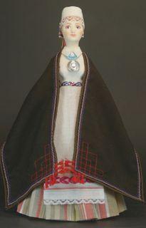 Doll gift. Estonian women's costume ser. 19th century. Rõngu village, southern Estonia.