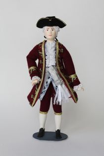 Doll gift. Male courtier suit the mid-18th century. France.