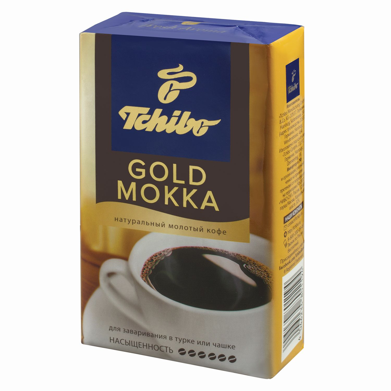 "TCHIBO / Ground coffee ""Gold Mokka"" natural, vacuum package 250 g"