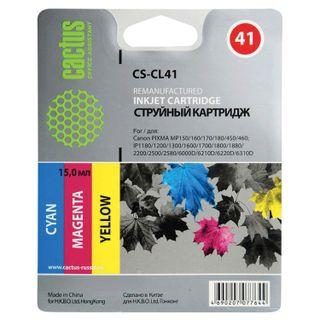 Inkjet cartridge CACTUS (CS-CL41) for CANON Pixma iP1200 / 1600/1700/2200 / MP150 / 160, color