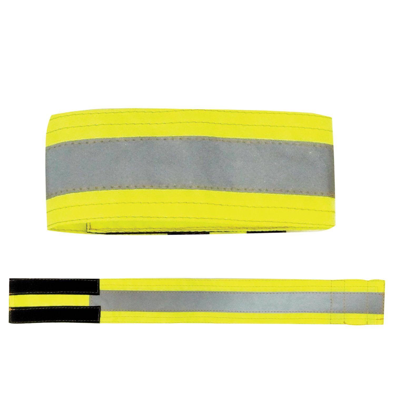 Armband, reflective hand 430х55 mm Velcro, lemon