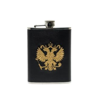 "Flask with hand embroidery ""Eagle"""