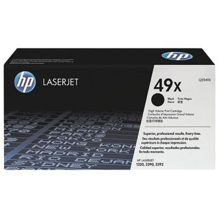 Toner cartridge HP (Q5949X) LaserJet 1320/3390/3392 and others, # 49X, original, yield 6000 pages.