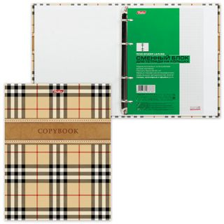 Notebook on A5 rings (170x220 mm), 240 sheets, laminated cardboard cover, cage, HATBER,
