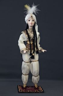 Doll gift porcelain. The Middle East. Arab beauty. The traditional costume. 18-19 centuries.